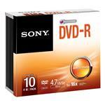 DVD-r Media 16x Slim Case 10 Pack