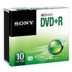 DVD+r Media 4.7GB 16x 10pk Slim Case