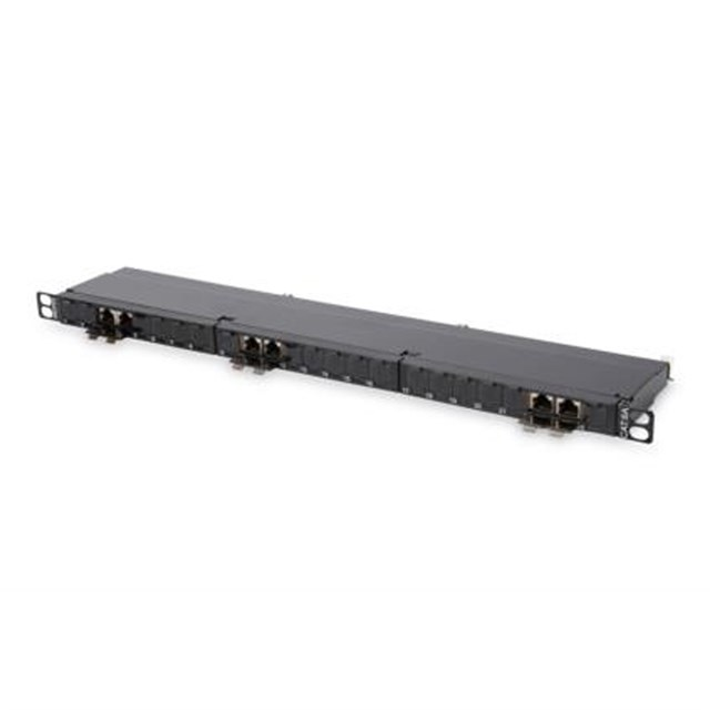 Patchpanel CAT6a Shielded 24-port 0.5u (dn91624sslea)