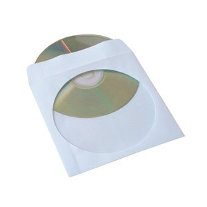 Cd Paper Pocket With Self Adhesive Flap & Clear (100pack)